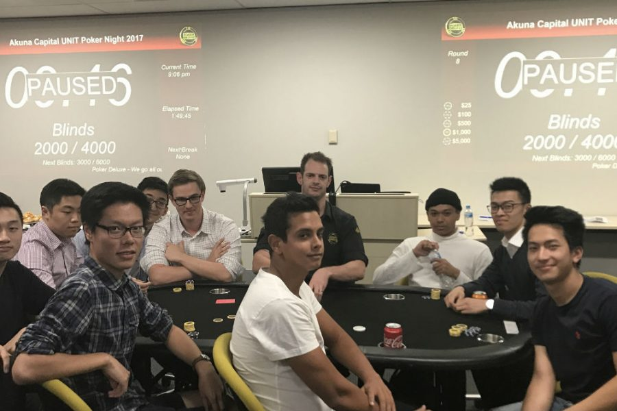 Melbourne University UNIT Poker Night